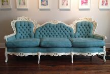 Vintage Wedding Furniture / Custom painted for the special day or event, vintage weddings