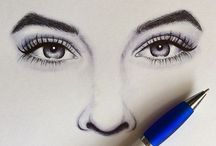 Face drawings / Lips, Eyes, Noses