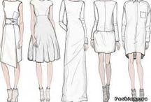 Скетчи платья