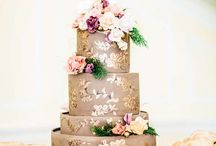 Handpaint Wedding Cake