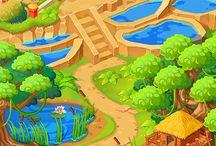 Cenários / Referência de cenários para jogos e animação.