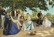 FRÉDÉRIC BAZILLE / JEAN FRÉDÉRIC BAZILLE (December 6, 1841 – November 28, 1870) was a French Impressionist painter. Many of Bazille's major works are examples of figure painting in which Bazille placed the subject figure within a landscape painted en plein air.