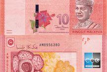Billets Malaysie / Le ringgit, rouppie malaysienne, est l'unité monétaire de la Malaisie. Les billets de banque Malaisie en circulation sont : 1, 2, 5, 10, 20, 50 et 100 MYR.