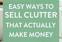 Organising Clutter / Make money from organising your clutter. Tips and hacks for decluttering the smart way and how to sell different things in different ways to make money from your clutter #makemoney #thrift #declutter365 #sidehustle #declutter #Organize #moneysaving