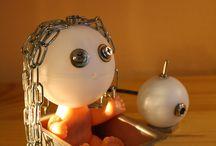 Little girl / Lamp, Little girl, mood lighting, cute table lamp, Led lighting, desk lamp, handmade...  Punk Trek