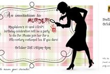 Party Time! / Murder mystery and other fun birthday party ideas for kids, tweens, and pre-teens! / by Rebecca Grabill