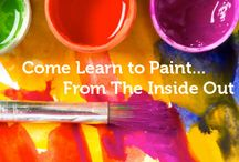 Intuitive Painting / Feeling stuck? Intuitive Painting is a powerful way to open yourself to more possibilities for your life.  This powerful process will allow you to move through your blocks and find an opening to the deeper parts of you that yearn to create the life you deeply desire to live.  This is not about painting a perfect picture. There are no previous painting skills required. It is about being open, childlike, and adventureus…..