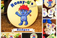 """Ronny-G's Travels Merchandise / Some gorgeous additions to the """"Ronny-G's Travels"""" book; badges, dolls, keyrings, earrings, etc..."""