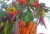 Ravintolan somistus / kukilla, väreillä, koristeilla, ideoilla