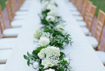 Long table flower arrangements