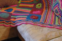 Crochet Pieced Afghans / Afghans and blankets with random-sized motifs that get pieced together to make something beautiful / by Linda