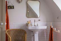 *Bathroom   Salle de bains* / Mes inspirations pour la salle de bains : classique revisité, campagne chic ou contemporaine… Détails de robinetterie, carrelage, baignoire.
