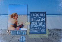 """Kit """"Sunshine"""" / Kit de scrap avec les feuilles Kaiser Craft de la collection sandy toes"""