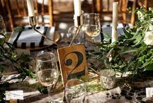 "Wedding | Table Numbers / ""1, 2, 3, 4, tell me that you love me more!"" Feist."