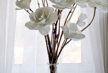 Flores Artificiais / flores de papel