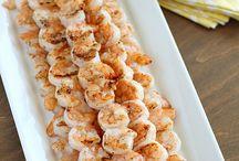 shrimp, fish