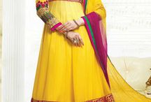 Stylish Churidar Suits - mag-1301 / Churidar Suit with Embroidery and Patchwork