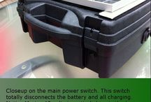 Self made solar portable generator