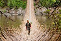Mosty, rozhledny