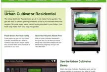 The Urban Cultivator / Introducing Urban Cultivator Residential The Urban Cultivator Residential is an all in one indoor home garden. You get 365 days of perfect growing conditions for all of your favorite herbs and veggies. No more soggy super market herbs going bad in your fridge... just fresh crisp herbs from your very own garden.