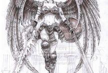 guerreira com asas