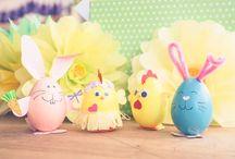 Un Paste colorat :) / Decoratiuni vesele si colorate pentru masa de paste sau pentru distractia copiilor.