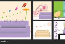 Home decor / Wall paper, stickes, quote designs are all easy and cost effective waysto enlighten our home.