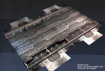 Sci-fi floor/board panels