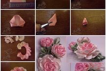 Satin Ribbon Roses