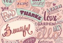 Beautiful words, beautiful phrases / Beautiful words, beautiful phrases. Lettering and calligraphy