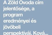 Óvodai program