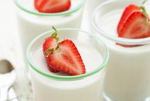 Dairy-free panna cotta.