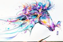 Kresba koně / Tyto obrázky se mi moc líbí. Tak jsem je sem dala. Ráda si s někým píši.