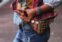 Boho style inspiration / Fringes, pompoms, kaftans, tassels, lots of (cheap) jewelry... I love boho style. It looks relaxed, free, gypsy, colourful and summer-ish.