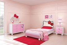 Hello Kitty Todder/Childrens Bedroom Decor / Hello Kitty decorating ideas for your child's room including cribs, bedding, sheets, comforters, beds and entire bedroom sets & furniture.