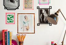 Decorando a parede | Decorating the wall