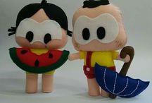 bonecos de feltro