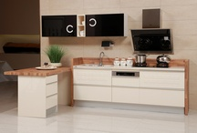 Kitchen Cabinet with PVC and Lacquer Doors (Model:OP13-277) / Modern Frameless Kitchen Cabinet with PVC and Lacquer Doors