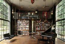 knihovny, pracovny a studovny