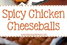 Spicy chicken balls
