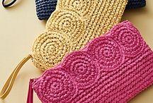 Clutch örme çanta
