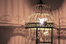 Cage For Birds To Decor With Lamp