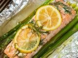 Salmon asparagus
