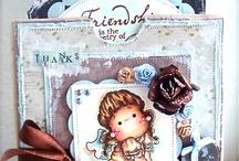 Magnolia cards / Magnolia stamp cards