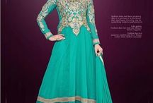 Sajdaa Glamour / Beautiful and Attractive looking Georgette anarkali's with fine embroidery work en-crafted with Stone Print. Along with Matching Santoon Bottom and Nazneen Duppatta.