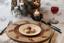Un repas de fête / Une belle vaisselle dans une ambiance de fête!  Découvrez tous nos produits sur www.sculpteursdulac.com