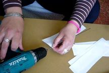 papírfonás - a csövek tekerése / papírfonás