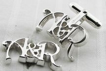 Bespoke Initial Cufflinks / We have been making these to order for many years. They always go down a storm...
