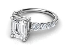 EMERALD CUT ENGAGEMENT RINGS WITH SIDE DIAMONDS