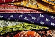 kantha quilts.